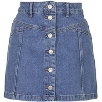 TopShop Petite Button Through Skirt
