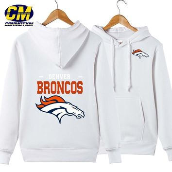 NFL American football Men's casual hoodie fashion sweatshirt outdoor sports pullover Denver Broncos