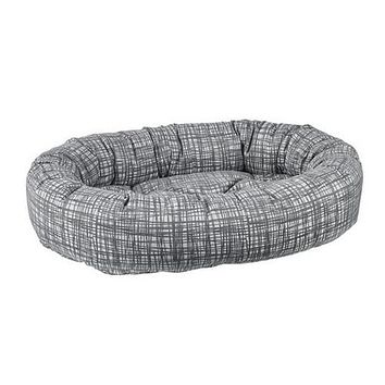 Jacquard Donut Bolstered Dog Bed — Tribeca