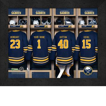 Buffalo Sabres | Locker Room Print | Personalized | Framed | NHL