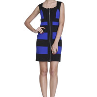 Dark Blue Stripe Dress