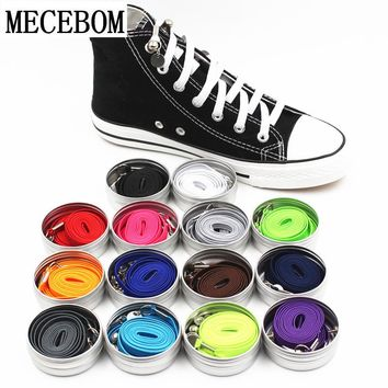 New Funny Lazy No Tie ShoeLaces Quick and easy Sneaker elastic Shoelaces men shoes One-handed shoelaces 14 color Available xd149
