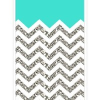 iZERCASE Chevron Pattern Turquoise Grey White Mixed RUBBER iPhone 5C Case (NOT ACTUAL GLITTER) - Fits iPhone 5C T-Mobile, AT&T, Sprint, Verizon and International