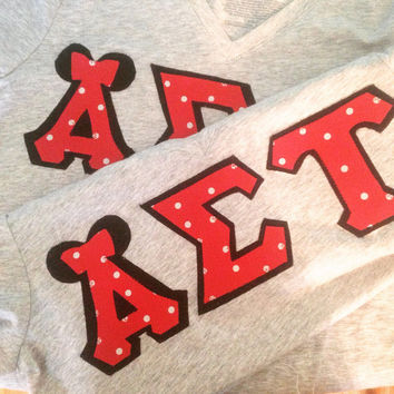Disney Minnie mouse greek sorority letters