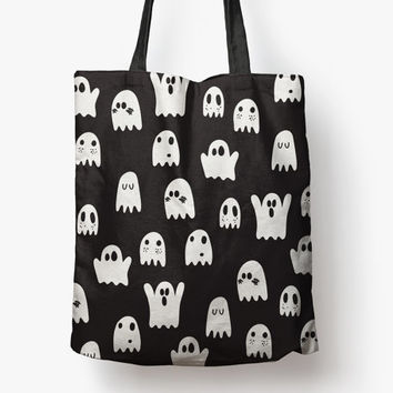 ghosty goo - 18 x 18 printed tote bag | fall + halloween trick or treat bag SALE | BEST PRICE