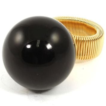 "1.25"" faux large pearl stretch ring chunky"