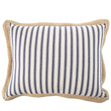 Striped Pillow with Burlap Trim | Hobby Lobby | 1481050