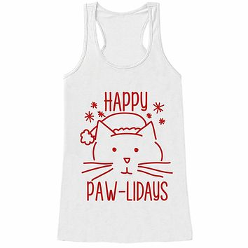 7 at 9 Apparel Women's Funny Cat Christmas Tank Top