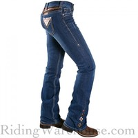 Cowgirl Tuff Women's Sierra Aztec Embroidered Jeans