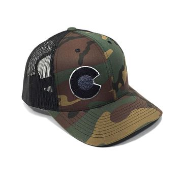 The Rogue Camo Black Mesh Hat