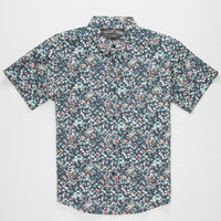 Straight Faded Forest Boys Shirt Navy  In Sizes