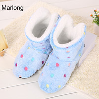 Winter Shoes Woman Home Slippers Girls Christmas Indoor Shoes Warm Contton Slipper Plush Pantufa Soft 7 Colors