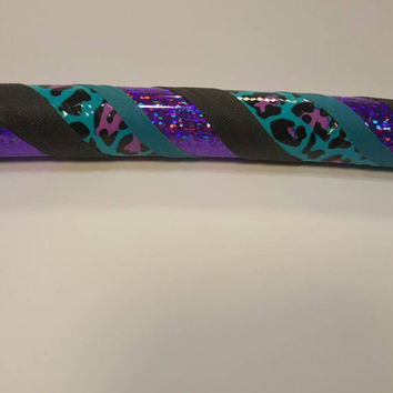 NEW Wildcat Collection / Purple & Turquoise  Leopard / Collapsible Travel Hoop / Fitness / Any Size  / Any Tubing / Hula Hoop / Dance / Kids
