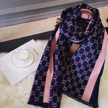 Ladies Gucci sleeved in autumn and winter shawls scarves cashmere  JUICEACTION