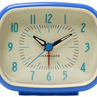 RETRO ALARM CLOCK BLUE