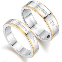 His and hers matching rings set forever love couple rings = 1930040388
