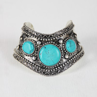 Marbles and Beads Cuff Bracelet