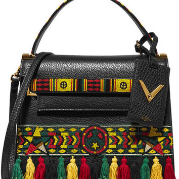 Valentino - My Rockstud embellished textured-leather tote
