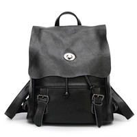 Casual Back To School Stylish Leather Backpack [6581507591]