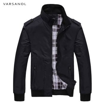 Trendy Varsanol 2018 New Jacket Coat Men Wear Autumn Jackets  Mens Clothing High Quality Spring Jacket Mandarin Collar Cotton Polyester AT_94_13