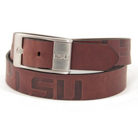 LSU Tigers NCAA Men's Embossed Leather Belt