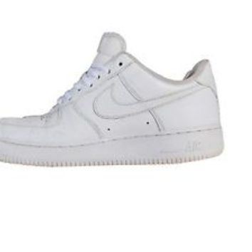 Nike Air Force 1 White Mid Size 8.5 2014 Basketball Shoe Sneaker Trainer