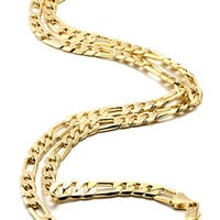 5mm 14K Gold Figaro Chain