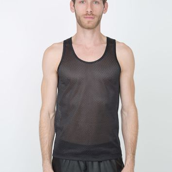 American Apparel- Poly Mesh Athletic Tank- Black