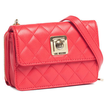 Moschino Red Crossbody/Wallet-on-a-Chain Bag