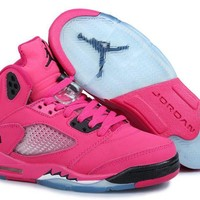 Air Jordan Retro 5 Girls Pink Black Jordan 5 Pink - Beauty Ticks