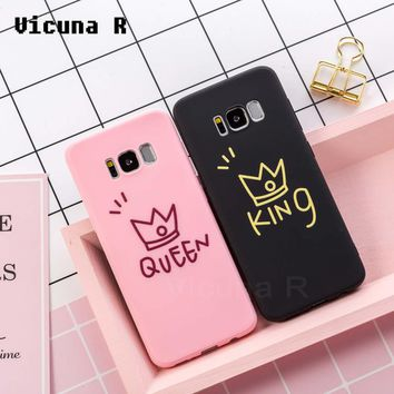 Vicuna R Soft TPU 3D Relief Phone Cases For Samsung Galaxy A5 J5 2017 Case King Cover for Samsung Galaxy S7 edge S8 S9 Plus Case