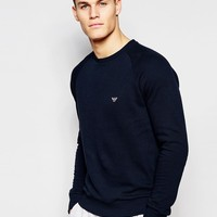 Emporio Armani Sweat in French Terry In Regular Fit at asos.com