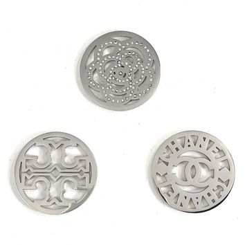 Coin Discs Set of 3 Stainless Steel 33mm for Interchangeable Coin Lockets