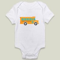 School Bus Onesy by SmallFry on BoomBoomPrints