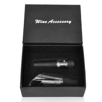 decanter and wine stopper bar tool set Vacuum Wine Bottle Stopper Champagne Vacuum Sealed bottle stopper LZS053