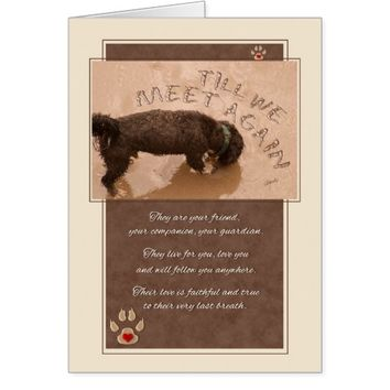 Loss of a Dog Pet Sympathy Card - Beach Theme