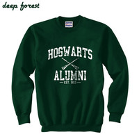 Harry Potter Hogwarts Alumni est 993 Size SMLXLXXLXXXL Sweatshirt Unisex Color Deep forest green