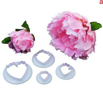 3D Subshrubby Peony Flower Hawaii Flower Silicone Fondant Molds Cake Decorating Cake Mould Bakery Accessories
