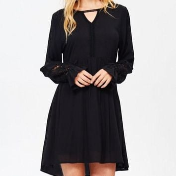 Little Boho Black Dress