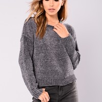 Zaccai Knit Sweater - Charcoal