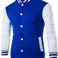 jeansian Men's Fashion Sport Jacket Sweatshirts Outwear 9352