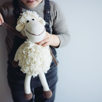 White Handmade Sheep Stuffed Animal