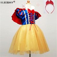 Children Cosplay Dress Snow White Girl Princess Dress Party Costume Children Clothing Sets Kids Clothes Girls Dresses