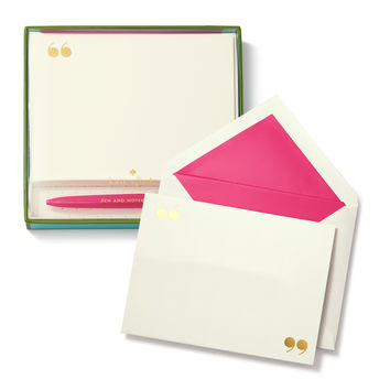 Kate Spade Pen & Notecard Set