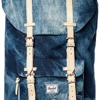 The Little America Backpack in Denim Acid Wash