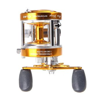 US Stock Full Metal 2+1BB Ball Bearings Right Hand Drum Wheel Boat Sea Fishing Reel Horizontal CL40