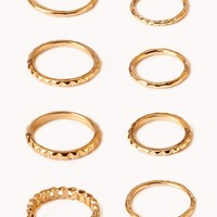 Dimpled Ring Set