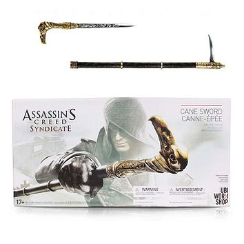 Neca Assassin's Creed Syndicate Game Cane Sword Anime PVC Figure Model Toy