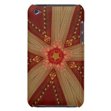 Elegant Chic Classic Red Brown Gold Star Ribbon Case-Mate iPod Touch Case