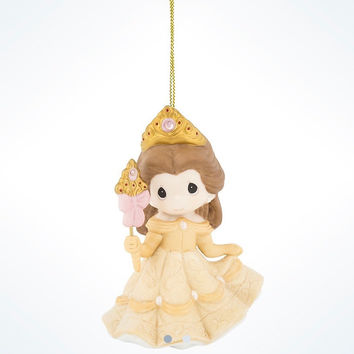 Disney Precious Moments Princess Belle Ceramic Christmas Ornament New with Tags